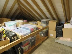 After - boxed and labelled sorted loft