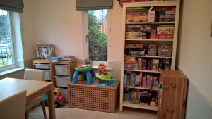 After - toys organized and accessible