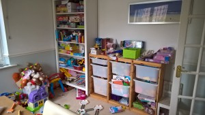 Before - muddled playroom